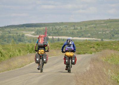 Mulighet for både korte og lange sykkelturer.